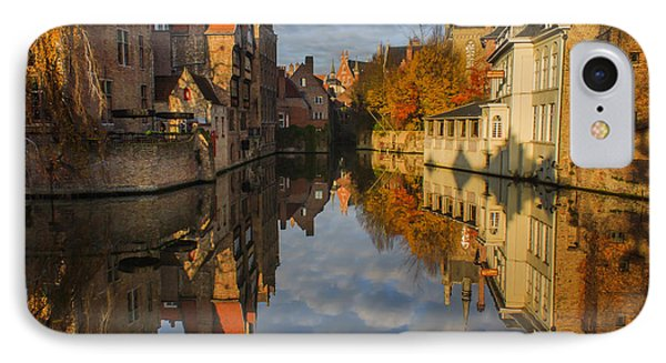 Reflections Of Bruges IPhone Case by Chris Fletcher