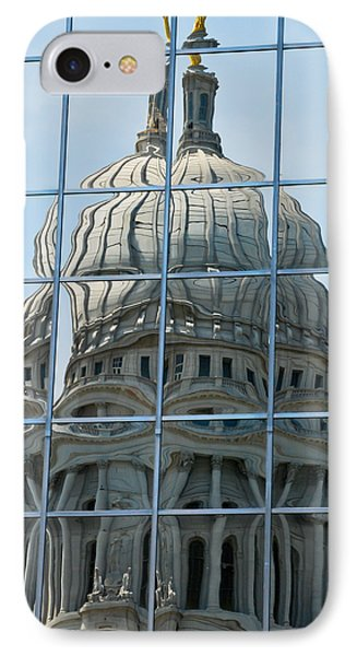 Reflections Of The Capitol IPhone Case by Christi Kraft