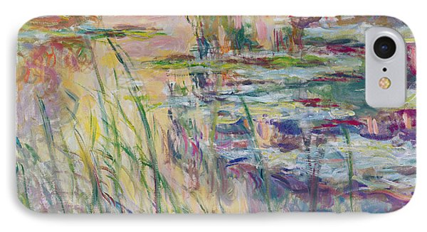 Reflections On The Water Phone Case by Claude Monet