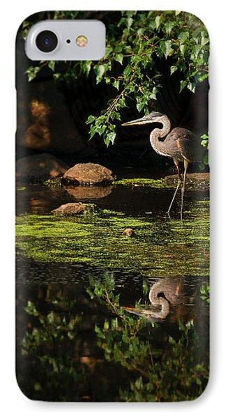 Reflective Heron Phone Case by Sylvia J Zarco