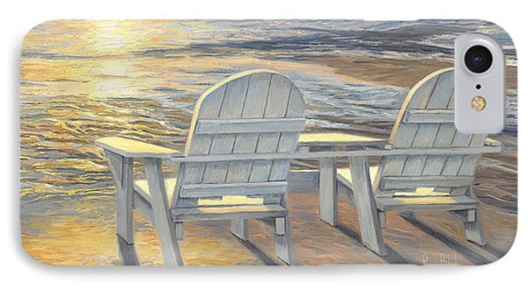 Relaxing Sunset IPhone Case by Lucie Bilodeau