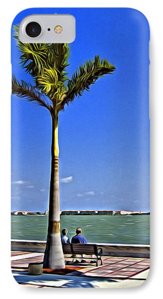 Relaxing Under A Palm IPhone Case by Patrick M Lynch