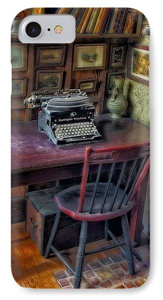 Remington Noiseless No 6 Typewriter IPhone Case by Susan Candelario