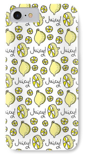 Repeat Prtin - Juicy Lemon IPhone 7 Case by Susan Claire