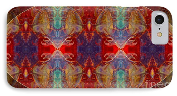 Repeating Realities Abstract Pattern Artwork By Omaste Witkowski Phone Case by Omaste Witkowski