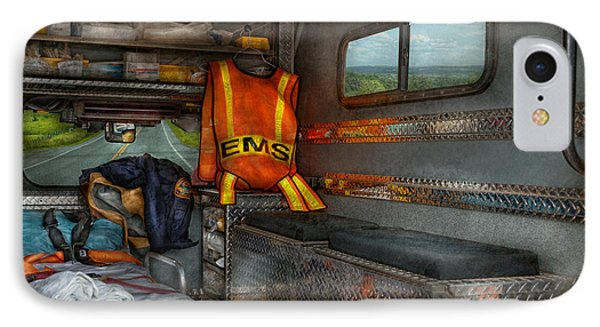 Rescue - Emergency Squad  Phone Case by Mike Savad