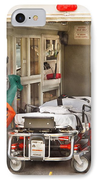 Rescue - Inside The Ambulance Phone Case by Mike Savad