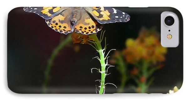 Resting Butterfly IPhone Case by Art Block Collections