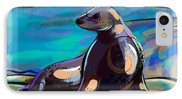 Resting Seal IPhone Case by Bedros Awak