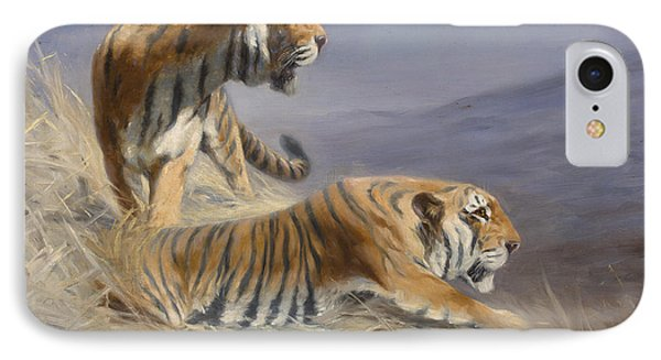 Resting Tigers IPhone Case by Lilian Cheviot