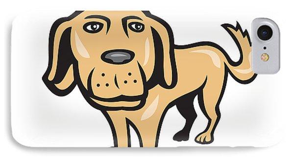 Retriever Dog Big Head Isolated Cartoon IPhone Case by Aloysius Patrimonio