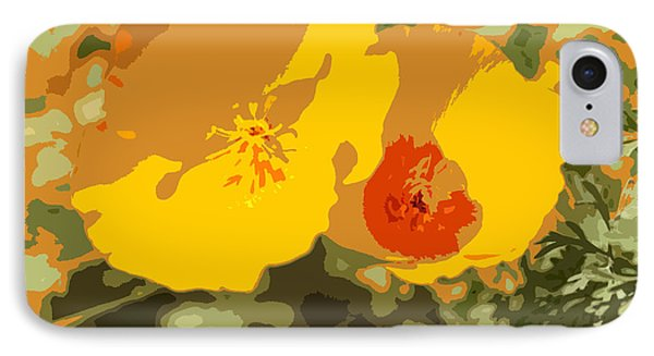 Retro Abstract Poppies 3 Phone Case by Artist and Photographer Laura Wrede