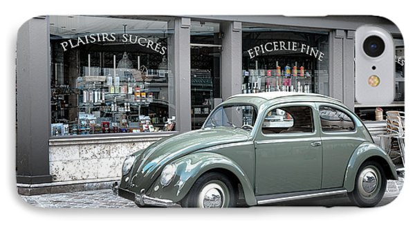 Retro Beetle IPhone Case by Olivier Le Queinec