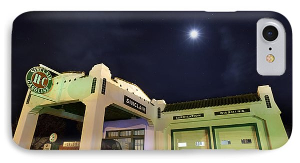 Retro Gas Station IPhone Case by Keith Kapple