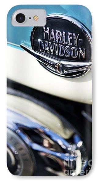 Retro Harley Davidson IPhone Case by Tim Gainey