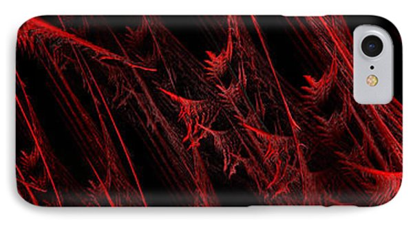 Rhapsody In Red H - Panorama - Abstract - Fractal Art Phone Case by Andee Design