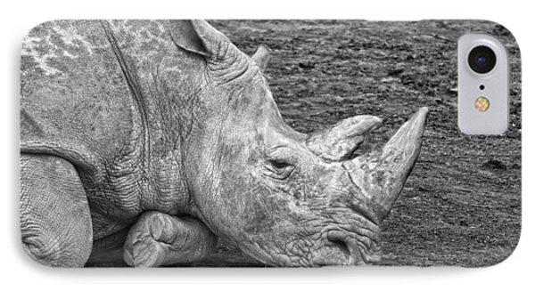 Rhinoceros IPhone Case by Nancy Aurand-Humpf