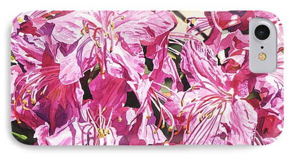 Rhodo Blossoms IPhone Case by David Lloyd Glover