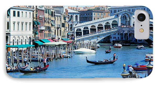 Rialto Bridge & Grand Canal Venice Italy IPhone Case by Panoramic Images
