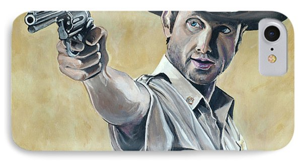 Rick Grimes IPhone Case by Tom Carlton