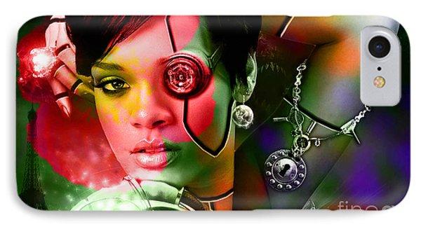 Rihanna IPhone Case by Marvin Blaine