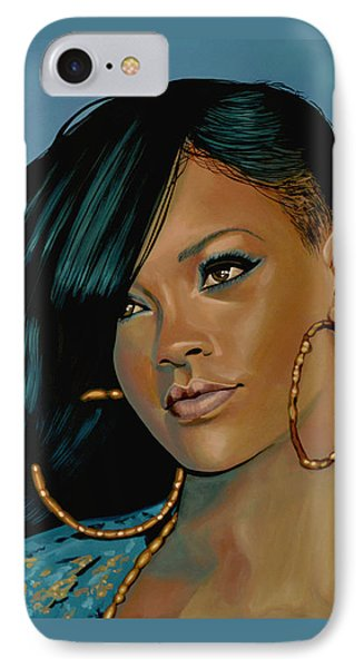 Rihanna Painting IPhone Case by Paul Meijering