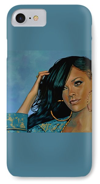 Rihanna Painting IPhone 7 Case by Paul Meijering