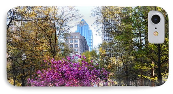 Rittenhouse Square In Springtime IPhone Case by Bill Cannon