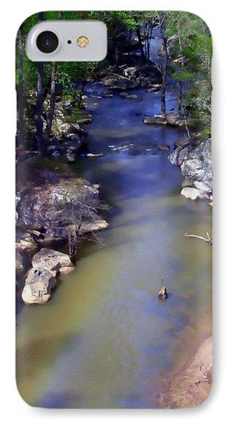 River At Noccalula Falls Phone Case by Debra Forand