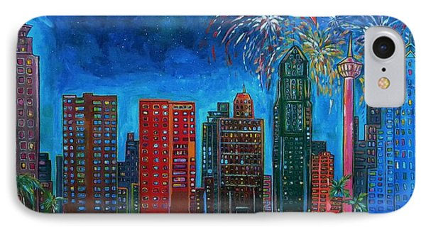 River City Skyline IPhone Case by Patti Schermerhorn