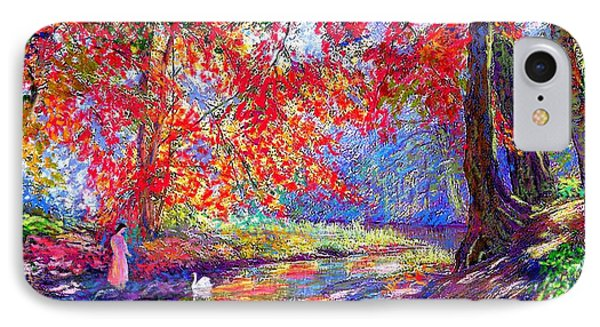 River Of Life, Colors Of Fall IPhone Case by Jane Small