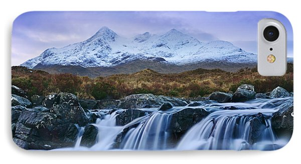 Waterfall And The Cuillins IPhone Case by Rod McLean
