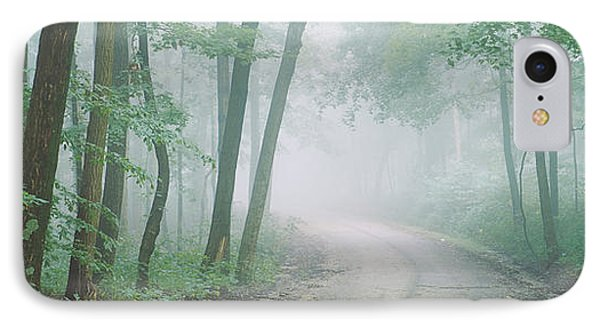 Road Passing Through A Forest, Skyline IPhone Case by Panoramic Images