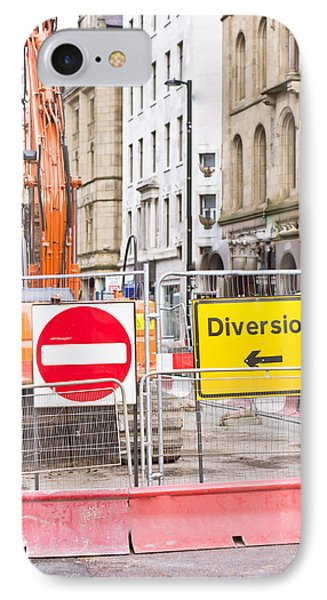 Road Works  IPhone Case by Tom Gowanlock