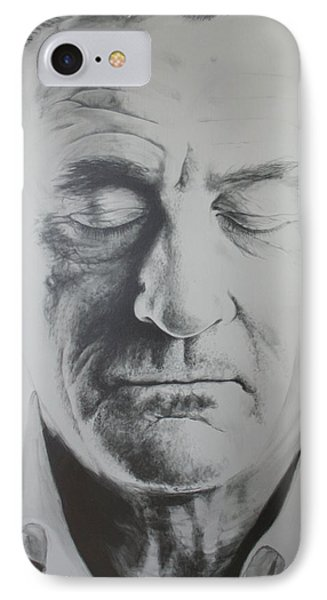 Robert De Niro Painting IPhone Case by Bruce McLachlan