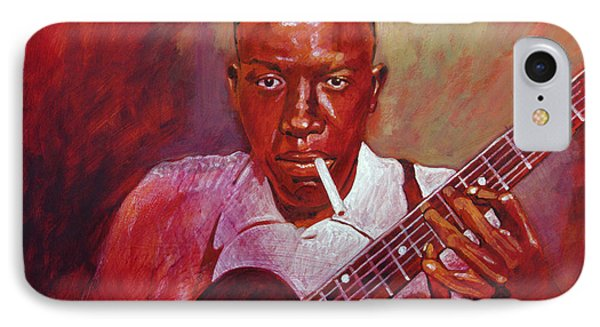 Robert Johnson Photo Booth Portrait IPhone 7 Case by David Lloyd Glover