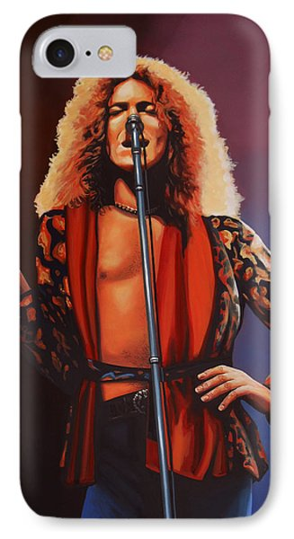 Robert Plant Of Led Zeppelin IPhone Case by Paul Meijering