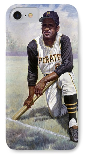 Roberto Clemente IPhone Case by Gregory Perillo