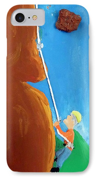 Rock Climber IPhone Case by Jera Sky