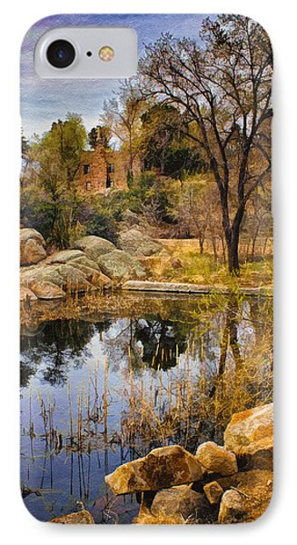 Rock House At Granite Dells IPhone Case by Priscilla Burgers
