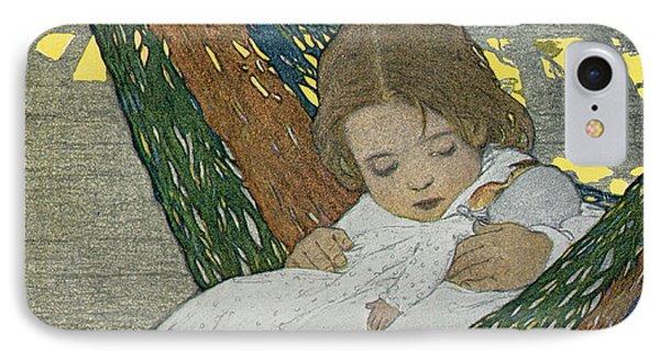 Rocking Baby Doll To Sleep Phone Case by Jessie Willcox Smith