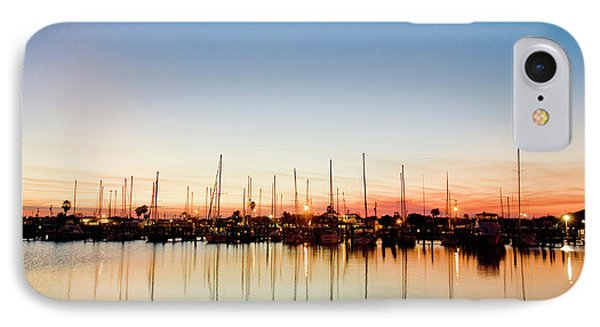 Rockport, Texas Harbor At Sunset IPhone Case by Larry Ditto