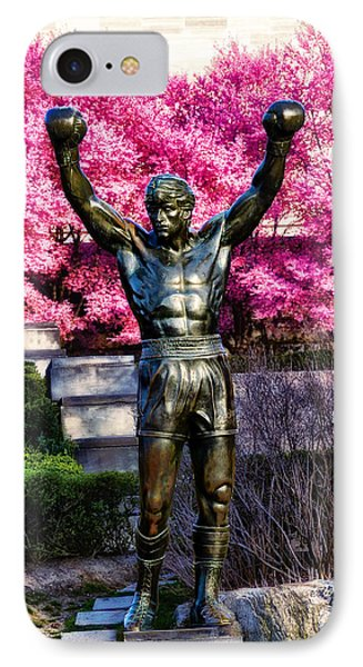 Rocky Among The Cherry Blossoms IPhone Case by Bill Cannon