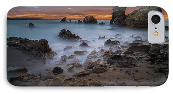 Rocky California Beach IPhone Case by Larry Marshall