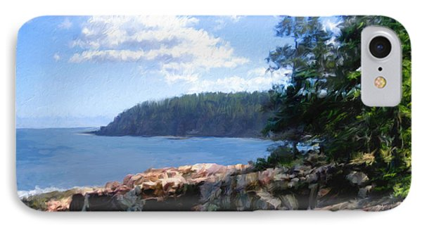 Rocky Coast .  Impressionistic  IPhone Case by Ann Powell