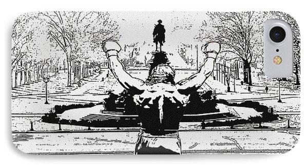 Rocky Is Philadelphia IPhone Case by Bill Cannon