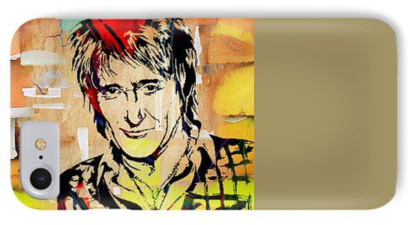 Rod Stewart Collection IPhone Case by Marvin Blaine