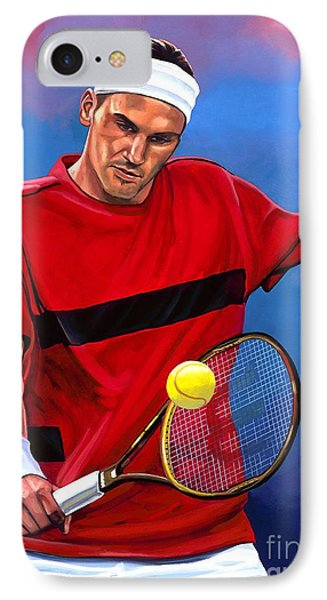 Roger Federer The Swiss Maestro IPhone Case by Paul Meijering