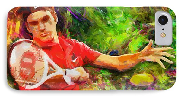 Roger Federer IPhone 7 Case by RochVanh