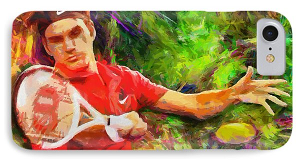 Roger Federer IPhone Case by RochVanh